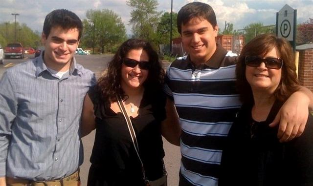 Laurie Weinberg, right, with her daughter, Lindsay, 22, and two sons, Samuel, 18, and Jason, 16.