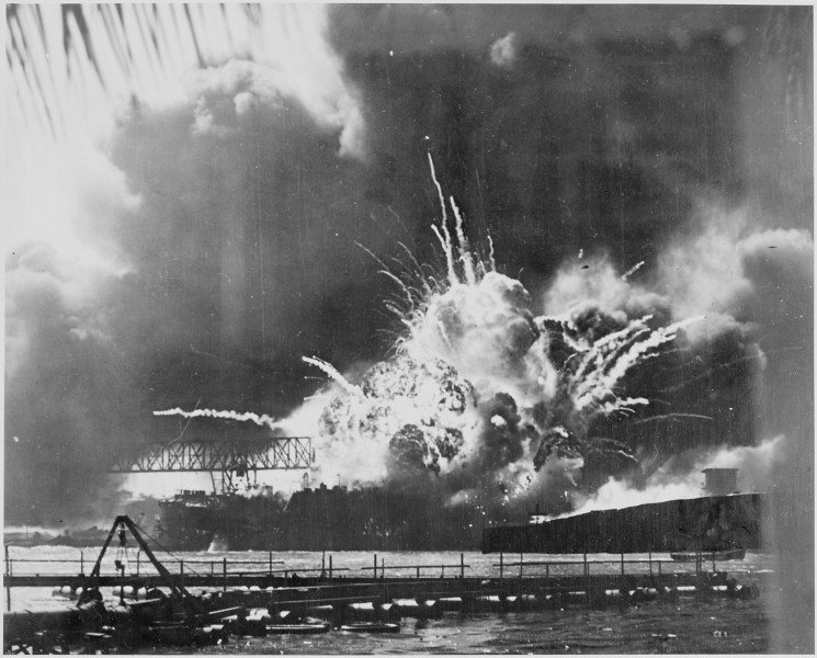 Naval_photograph_documenting_the_Japanese_attack_on_Pearl_Harbor,_Hawaii_which_initiated_US_participation_in_World..._-_NARA_-_295978